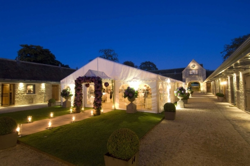 Courtyard with marquee
